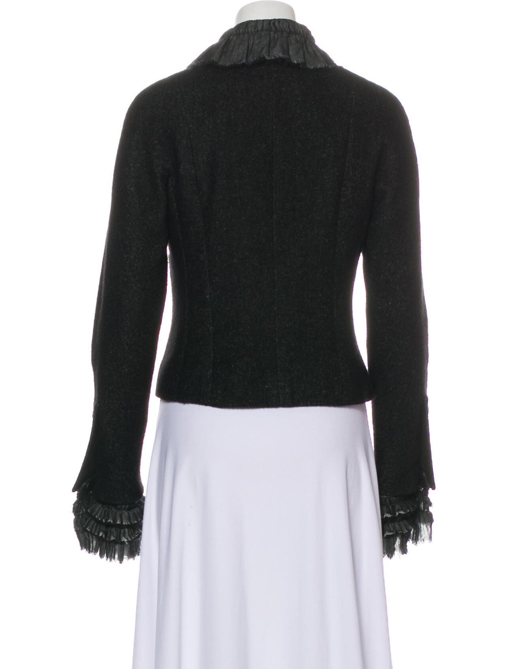 Chanel 2013 Linen Jacket Black - image 3