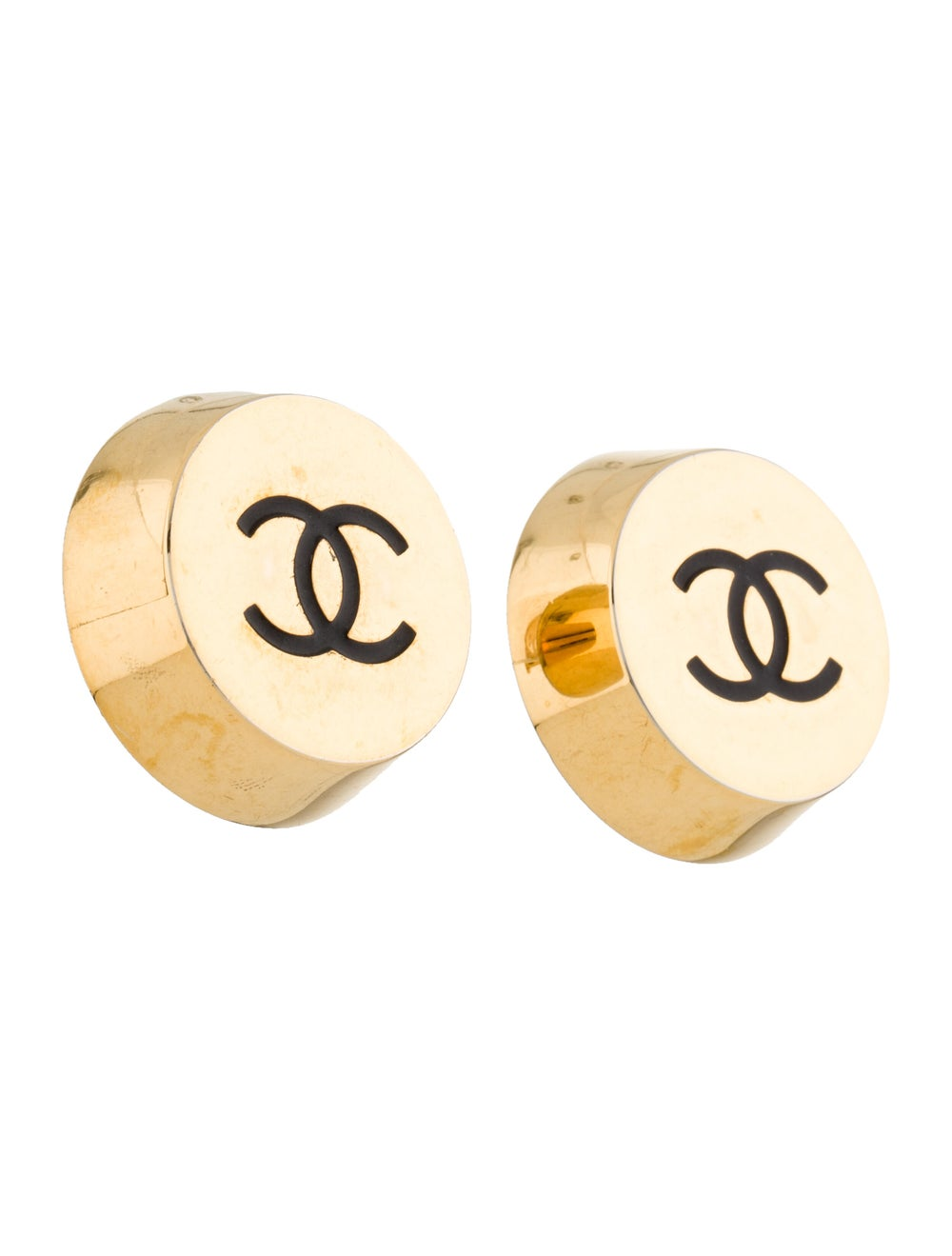 Chanel Vintage CC Clip-On Earrings Gold - image 3