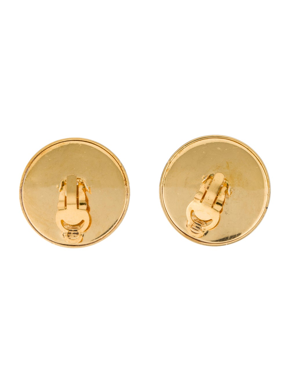 Chanel Vintage CC Clip-On Earrings Gold - image 4