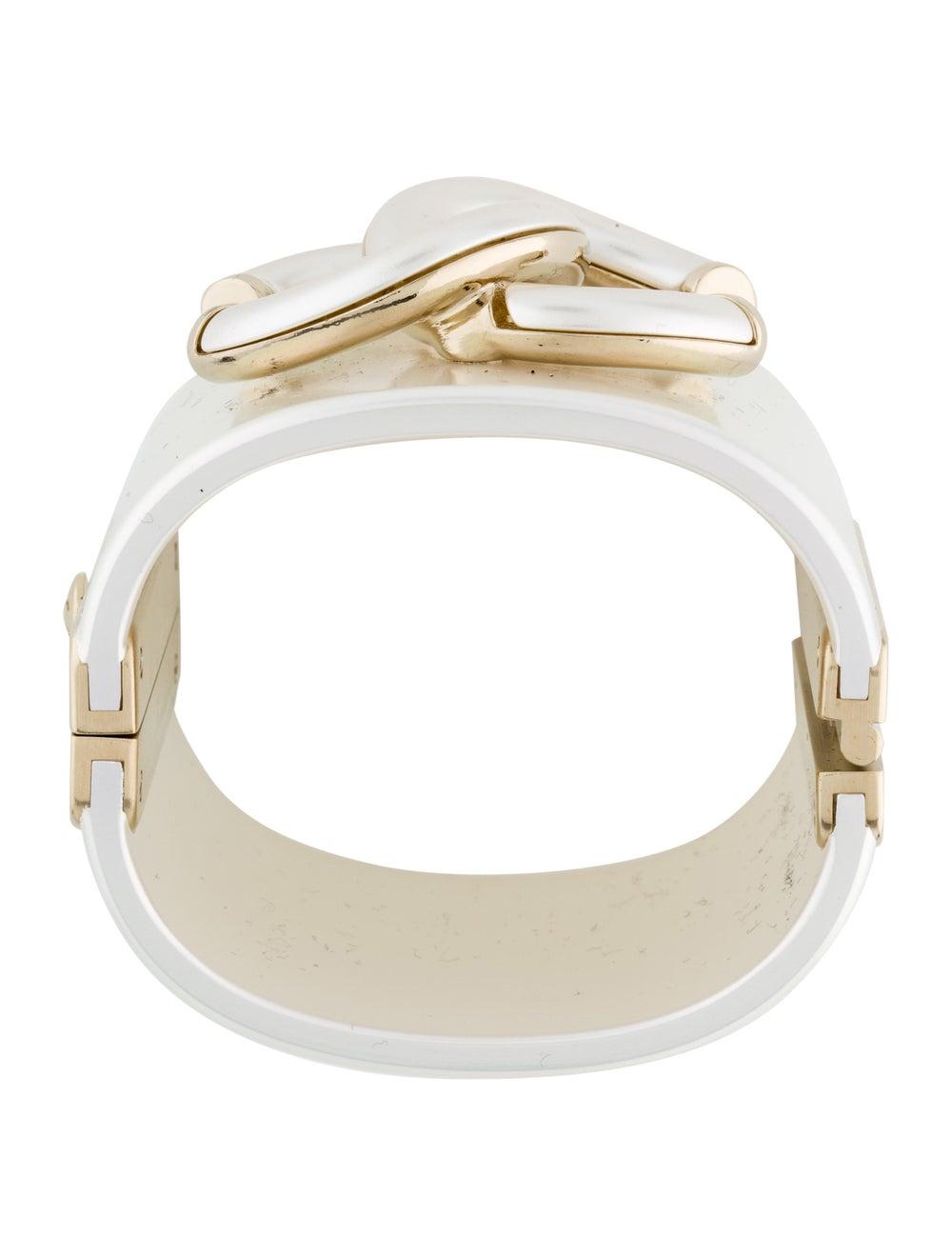 Chanel Resin CC Bracelet Gold - image 3