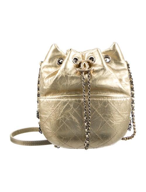 Chanel Small Gabrielle Bucket Bag Gold