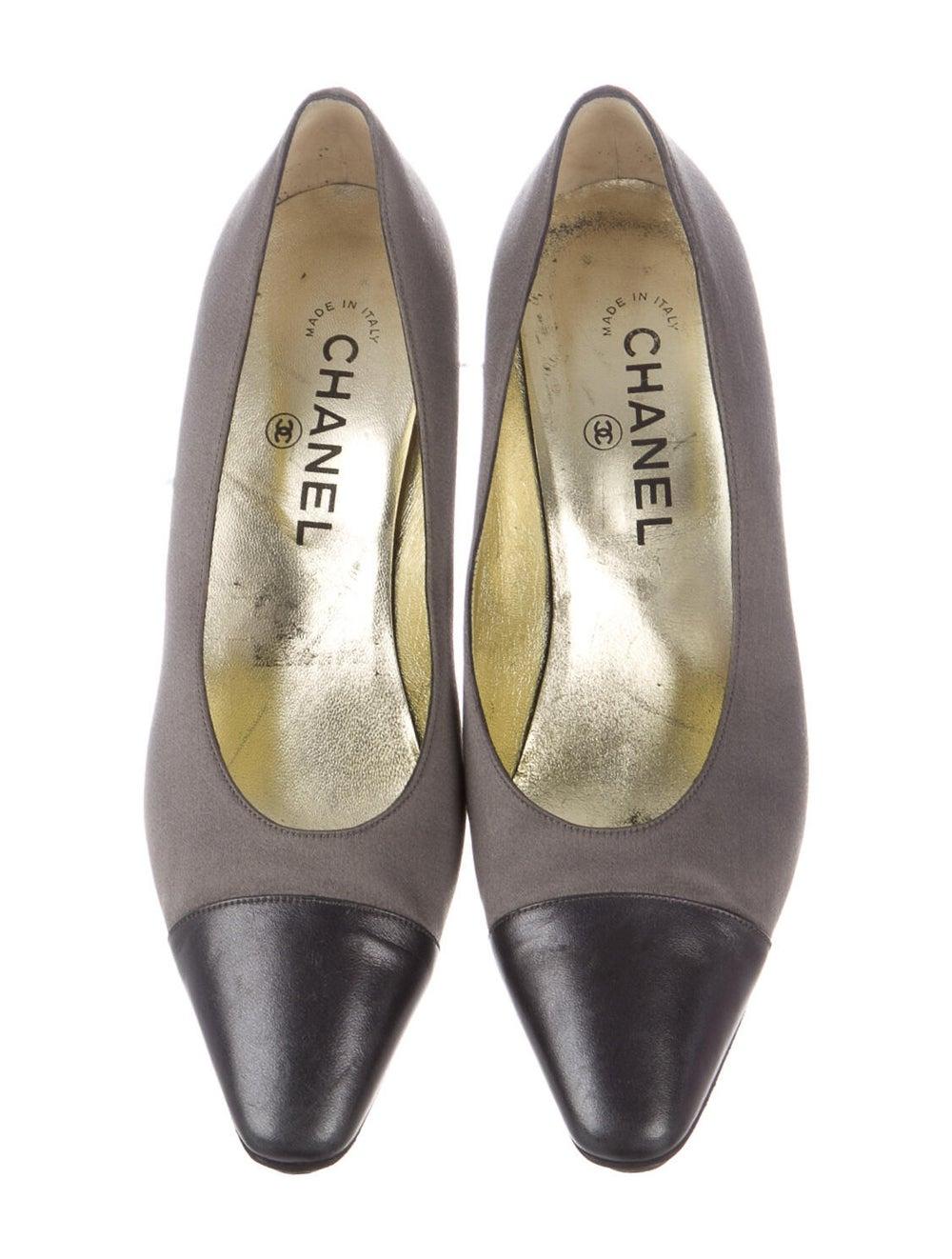 Chanel Cap Toe Pumps Pumps Grey - image 3