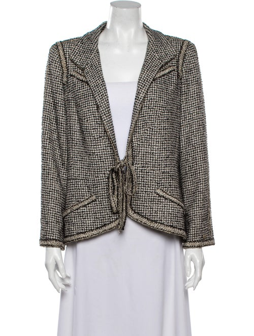 Chanel 2010 Tweed Pattern Blazer Black