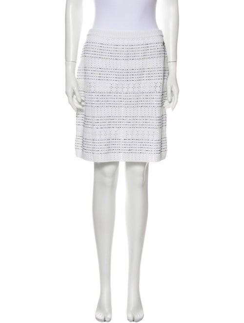 Chanel 2017 Knee-Length Skirt White