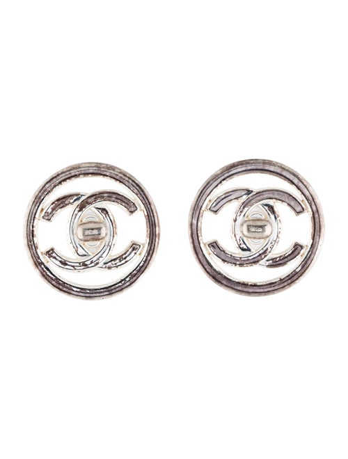 Chanel Vintage CC Clip-On Earrings Silver