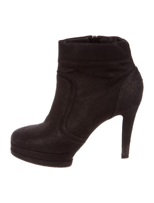 Chanel Caviar Ankle Boots Leather Boots Black
