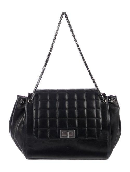 Chanel Chocolate Bar Accordion Flap Bag Black