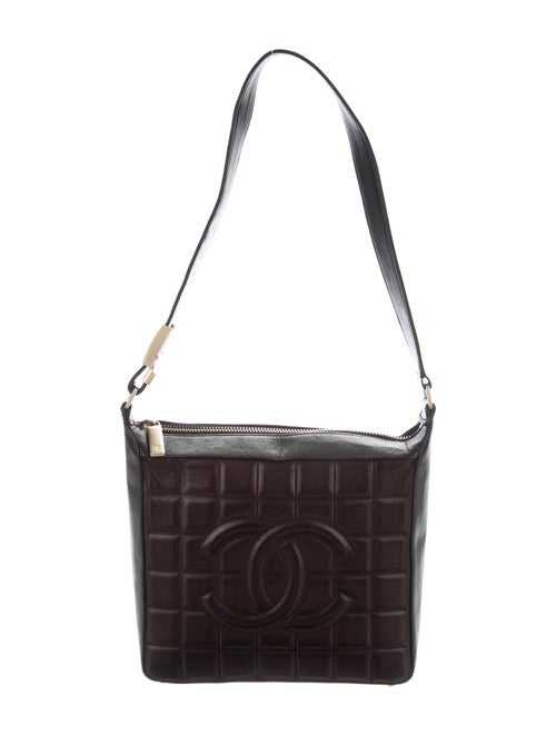 Chanel Chocolate Bar Shoulder Bag Brown