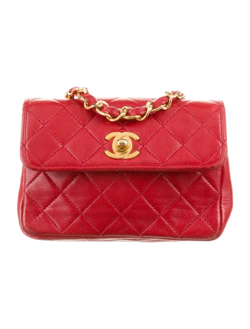 Chanel Vintage Micro Flap Bag gold