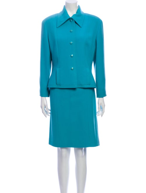 Chanel Vintage 1980's Skirt Suit Blue