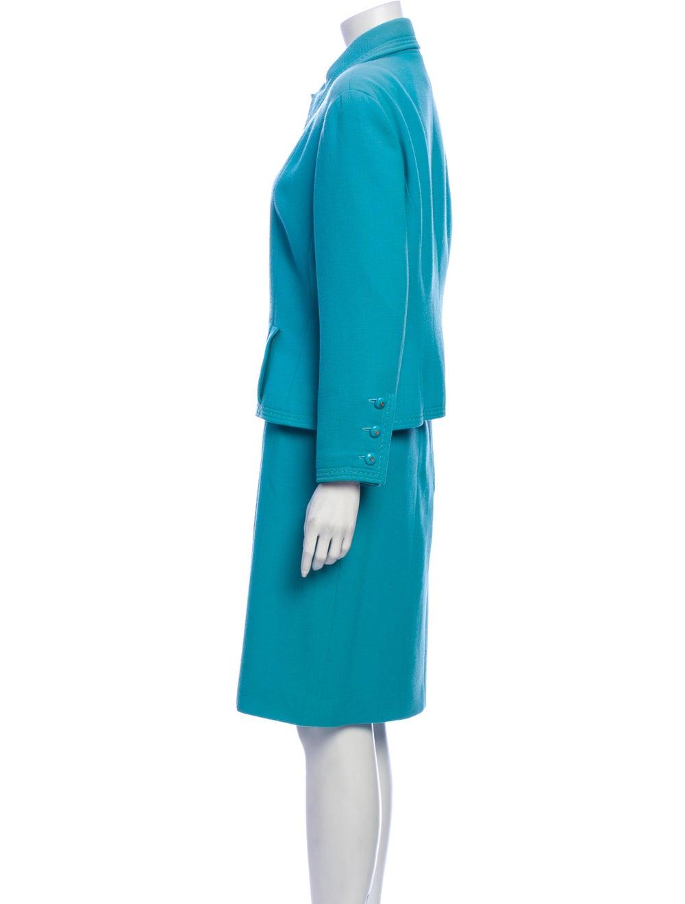 Chanel Vintage 1980's Skirt Suit Blue - image 2