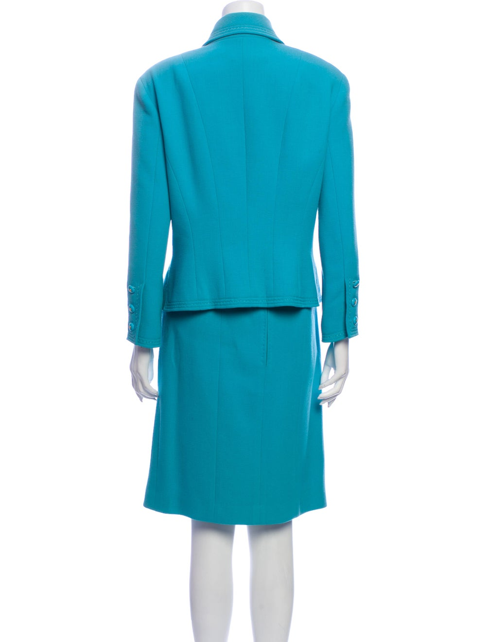 Chanel Vintage 1980's Skirt Suit Blue - image 3