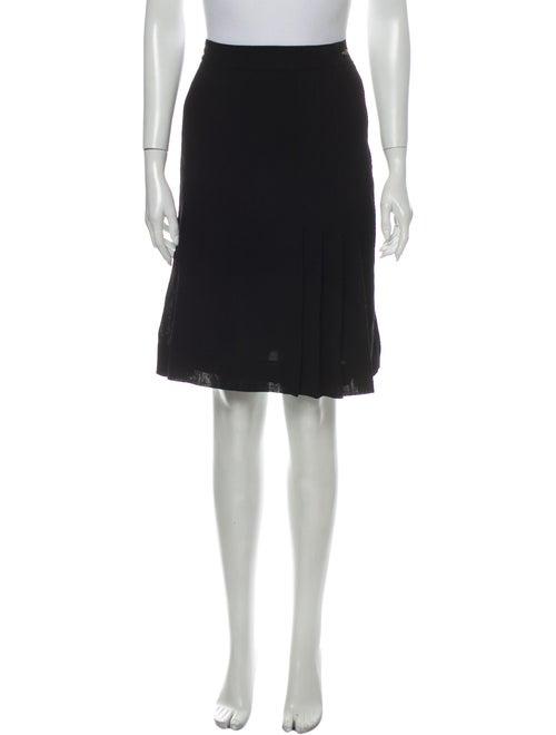 Chanel 1990's Knee-Length Skirt Wool
