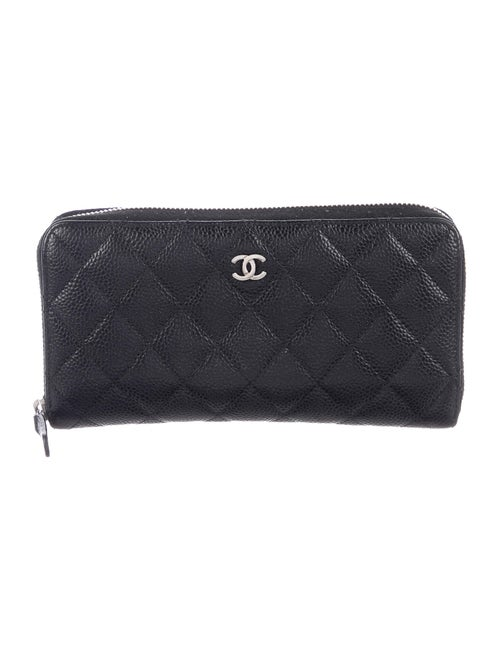 Chanel Quilted Caviar L-Gusset Wallet Black