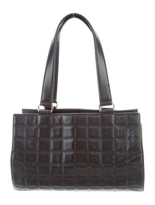 Chanel Vintage Chocolate Bar Barrel Bag Black