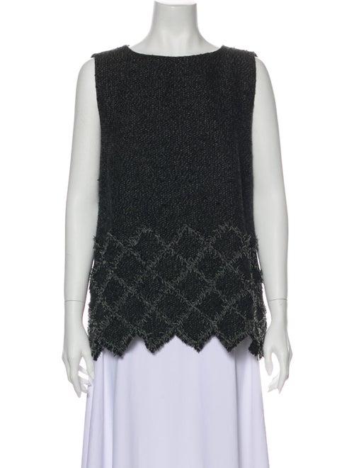 Chanel 2013 Tweed Sleeveless Top Top Grey