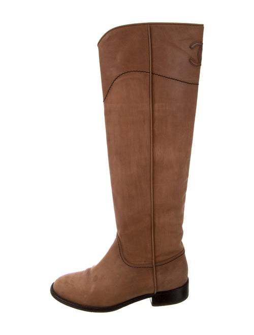 Chanel CC Riding Boots Suede Riding Boots