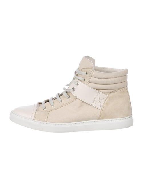 Chanel Canvas High-Top Sneakers Sneakers