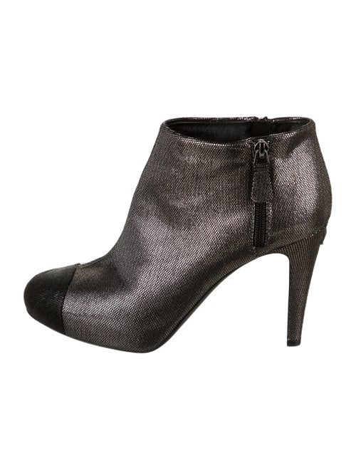 Chanel Boots Silver