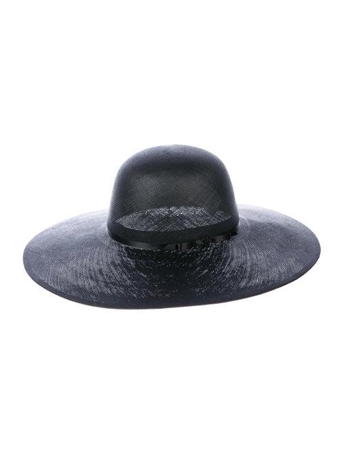 Chanel CC Wide Brim Hat Black