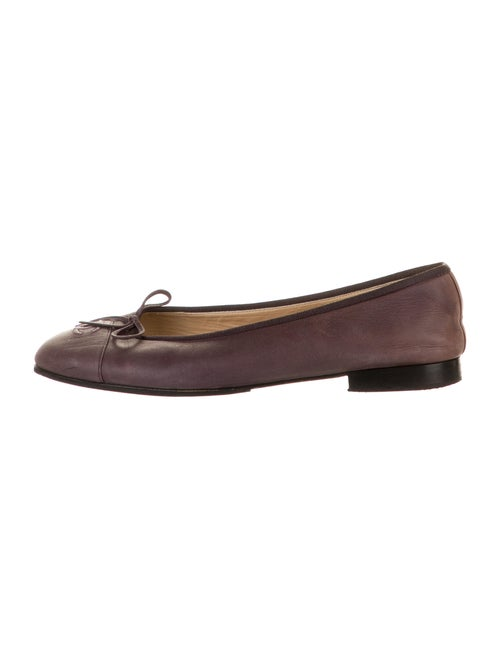 Chanel CC Ballet Flats Suede Ballet Flats Purple