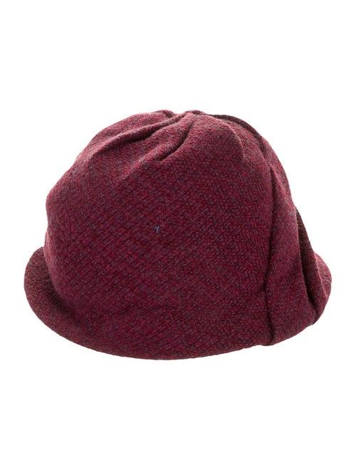Chanel Pleated Tweed Hat Purple