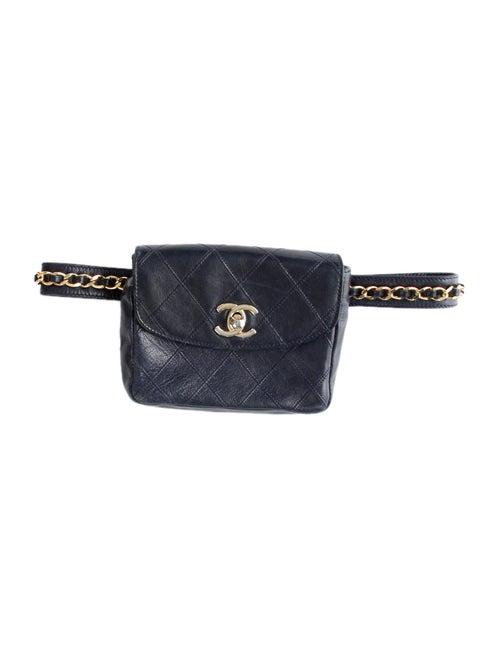 Chanel Vintage CC Belt Bag Navy