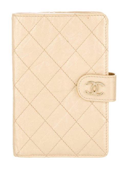 Chanel Diamond Stitch French Purse Wallet Gold