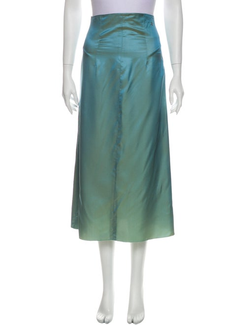 Chanel 2000 Midi Length Skirt Blue