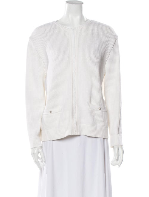 Chanel 2007 Crew Neck Sweater White