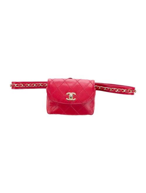 Chanel Vintage Quilted Belt Bag gold