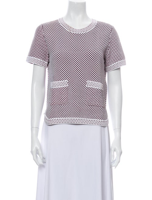 Chanel 2014 Short Sleeve Knit Top T-Shirt