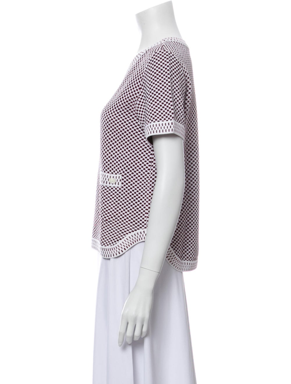 Chanel 2014 Short Sleeve Knit Top T-Shirt - image 2