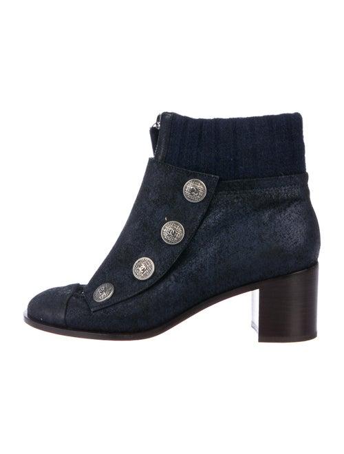 Chanel Paris-Edinburgh CC Suede Boots Suede Boots