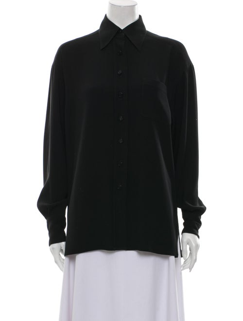 Chanel 1999 Long Sleeve Button-Up Top Button-Up To