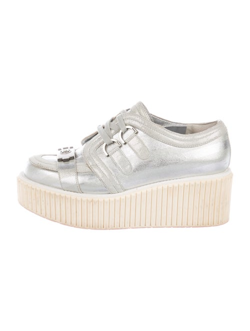 Chanel Boy Platforms Sneakers Silver