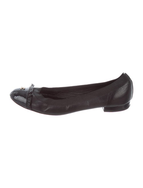 Chanel CC Ballet Flats Leather Ballet Flats Black