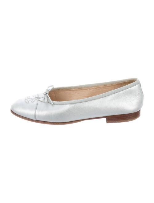 Chanel CC Ballet Flats Leather Ballet Flats Silver