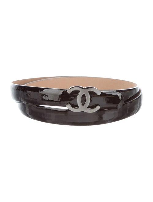 Chanel CC Skinny Belt Black