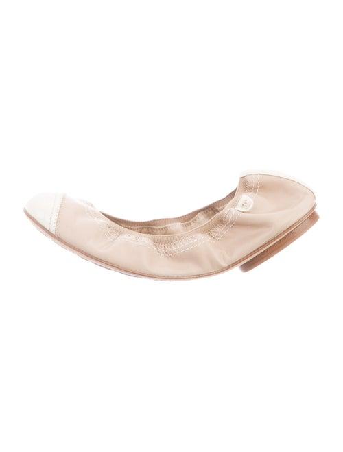 Chanel Cap-Toe Ballet Flats Leather Flats