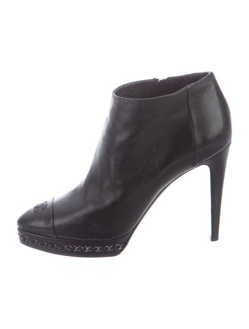 Chanel Leather Boots Black