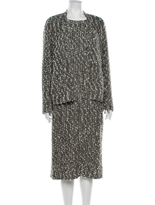 Chanel 2004 Tweed Pattern Dress Set Grey