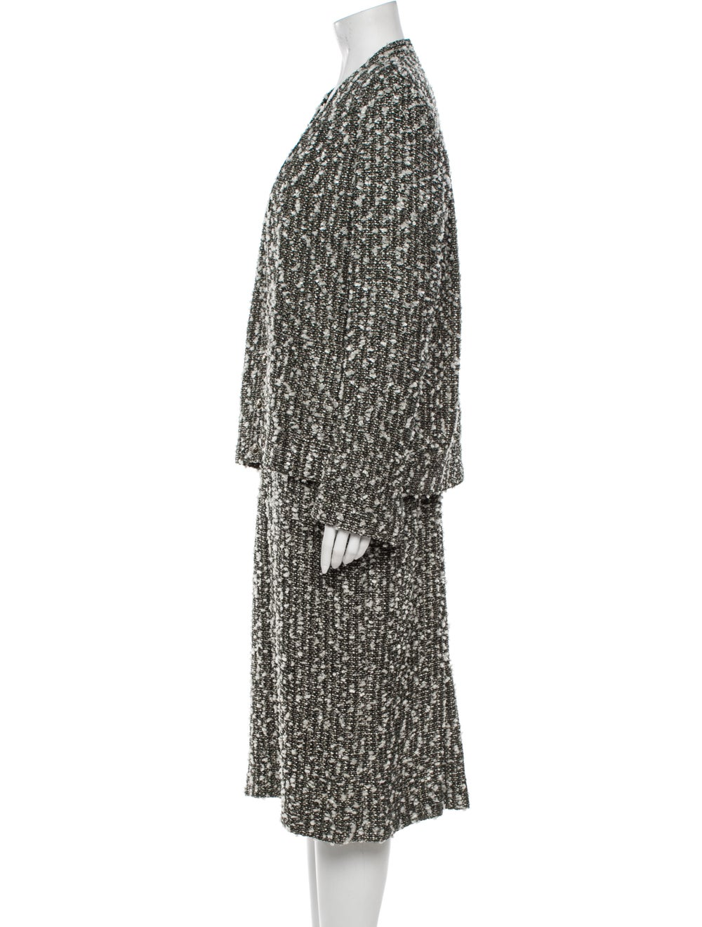Chanel 2004 Tweed Pattern Dress Set Grey - image 2