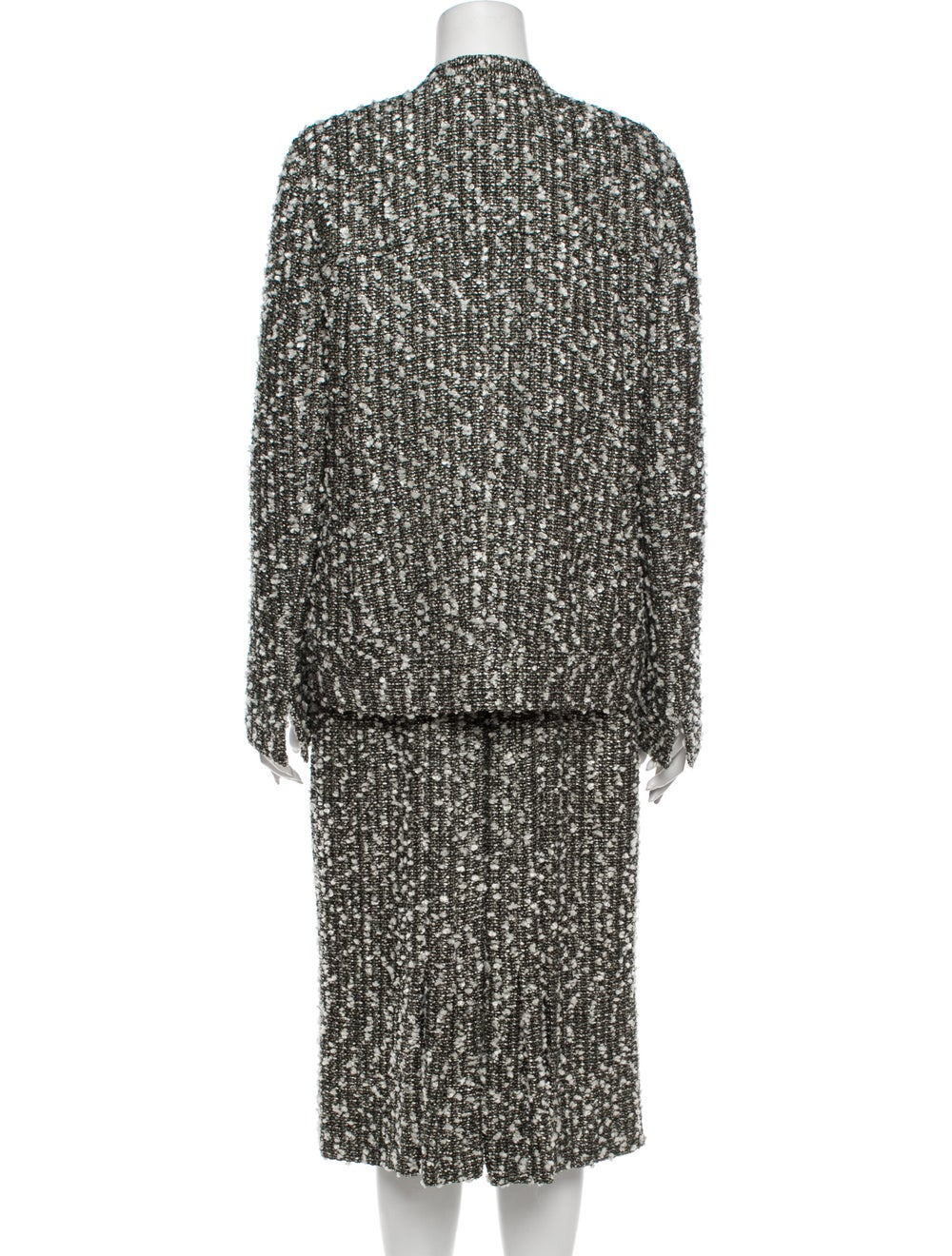 Chanel 2004 Tweed Pattern Dress Set Grey - image 3