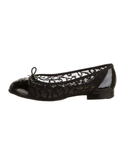 Chanel Interlocking CC Logo Ballet Flats Black
