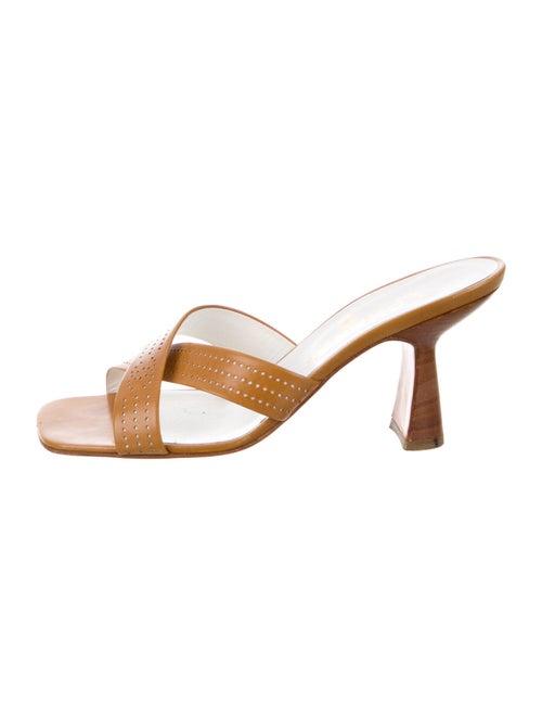 Chanel Leather Slides