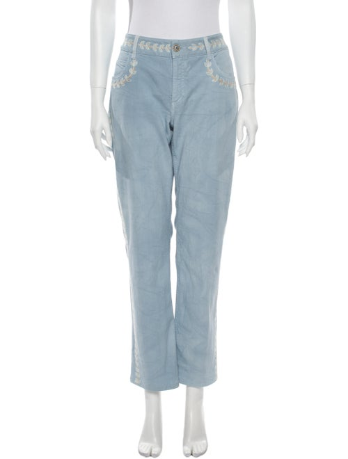 Chanel 2011 Straight Leg Jeans Blue