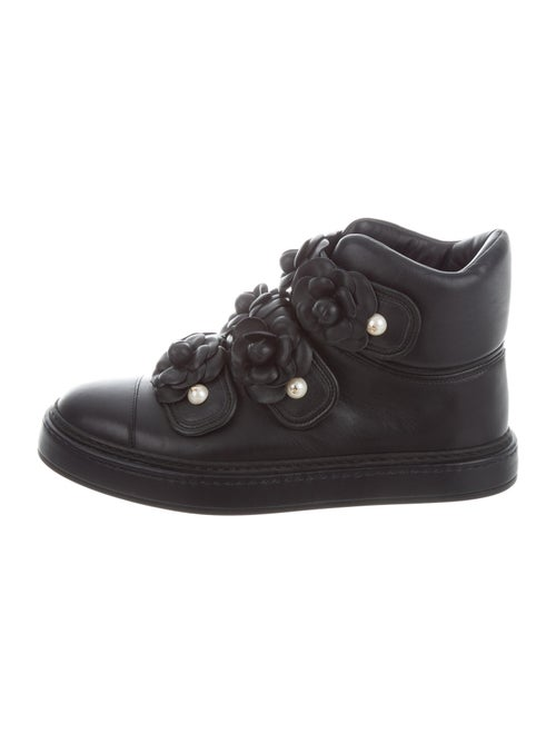 Chanel Camellia High-Top Sneakers Sneakers Blue