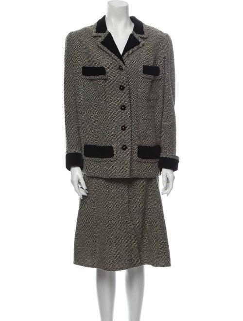 Chanel Vintage 1960's Skirt Suit Black
