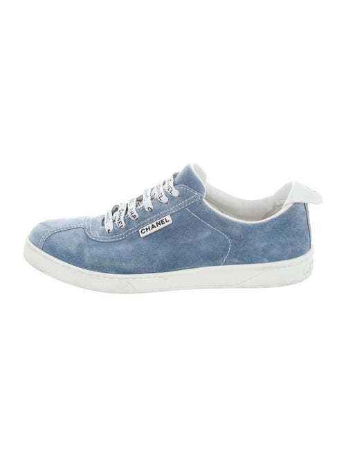 Chanel Logo Suede Sneakers Sneakers Blue - image 1